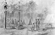 War Drawing Prints - Civil War: Voting, 1864 Print by Granger
