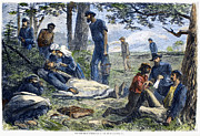 Compassion Prints - Civil War: Wounded, 1864 Print by Granger