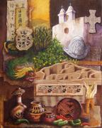 Mexican Religion Mixed Media Prints - Civilizations of Paquime Print by Candy Mayer