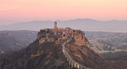 Italian Sunset Posters - Civita Di Bagnoregio At Sunset Poster by Nico De Pasquale Photography
