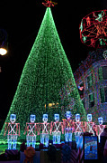 Lights Digital Art Originals - Cjristmas Tree In Lights by Charles  Ridgway