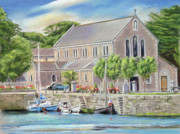 Rowboat Framed Prints Posters - Claddagh Church Galway Poster by Irish Art