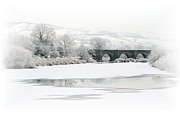 Snowscape Mixed Media - Clady Bridge Winter by Jim Hamilton