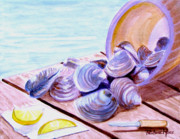 Sealife And Beaches - Clams with Lemon by Pauline Ross