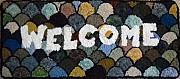 Hanging Tapestries - Textiles Posters - Clamshell Welcome Poster by Maureen McIlwain