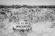 Battlefield Site Photo Posters - clan mackintosh memorial stone on Culloden moor battlefield site highlands scotland Poster by Joe Fox