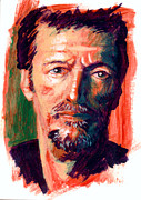 Guitarists Paintings - Clapton Now by Ken Meyer jr