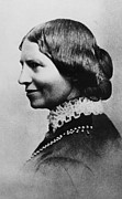 Portaits Framed Prints - Clara Barton 1821-1912, American Framed Print by Everett