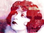 Vintage Woman Paintings - Clara Bow by Stefan Kuhn