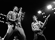Clarence Clemons Framed Prints - Clarence and Bruce 1981 Framed Print by Chris Walter