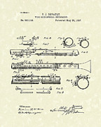 Wind Drawings - Clarinet 1897 Patent Art  by Prior Art Design