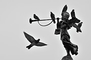 Town Square Photo Posters - Clarinet Statue Poster by CarlosAlbertoPhoto