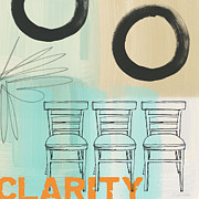 Blue Chairs Posters - Clarity Poster by Linda Woods