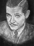 Clark Gable Framed Prints - Clark Gable Framed Print by Elisabeth Dubois