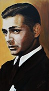 Film Painting Originals - Clark Gable by Shirl Theis