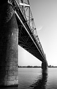 Monotone Prints - Clark Memorial Bridge II Print by Steven Ainsworth