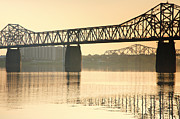 Indiana Photography Prints - Clark Memorial Bridge Print by Steven Ainsworth