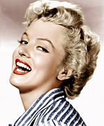 Striped Shirt Posters - Clash By Night, Marilyn Monroe, 1952 Poster by Everett