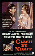 1950s Movies Framed Prints - Clash By Night, Paul Douglas, Barbara Framed Print by Everett