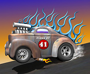 Custom Automobile Digital Art Posters - Class of 41 Poster by Stuart Swartz