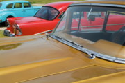 American Culture Framed Prints - Classic American cars parked in Varadero Framed Print by Sami Sarkis