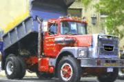 Dump Truck Framed Prints - Classic Brockway Dump Truck Framed Print by David Lane