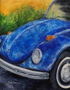 Vw Beetle Mixed Media Framed Prints - Classic Bug Framed Print by Tracy Sorensen
