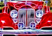 Lamps Mixed Media Posters - Classic Buick Roadster - Fractal Poster by Steve Ohlsen