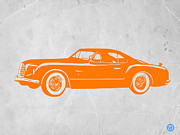 Old Paper Art Prints - Classic Car 2 Print by Irina  March