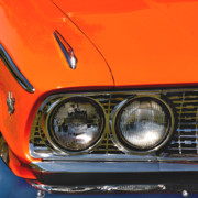 Orange Car Art - Classic Car 4 by Art Block Collections