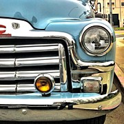 Transportation Art - Classic car headlamp by Julie Gebhardt