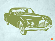 Old Paper Art Prints - Classic Car Print by Irina  March