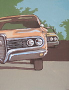 Cruising Paintings - Classic Cars by Sandy Tracey