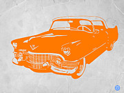 Whimsical Digital Art Posters - Classic Chevy Poster by Irina  March