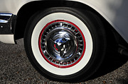 White Walls Framed Prints - Classic Chevy Wheels Framed Print by David Lee Thompson