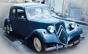 Antique Automobiles Photos - Classic Citroen in Blue by Heiko Koehrer-Wagner