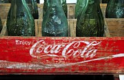 1950s Metal Prints - Classic Coke Metal Print by David Lee Thompson