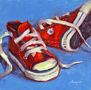 Basketball Paintings - Classic Converse by Sue Dragoo Lembo