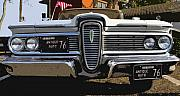 Antic Car Framed Prints - Classic Edsel Framed Print by David Lee Thompson