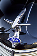 Antique Automobiles Photos - Classic Ford Hood Ornament by Heiko Koehrer-Wagner