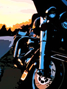 Harley Davidson Paintings - Classic Harley by Michael Pickett