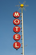 Drive In Style Posters - Classic Motel Neon Sign Poster by Frank Short