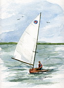 International Painting Originals - Classic Moth Boat by Nancy Patterson