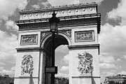 Black And White Paris Metal Prints - Classic Paris 6 Metal Print by Andrew Fare