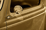 Monochrome Hot Rod Prints - Classic Pickup Truck Door Print by M K  Miller