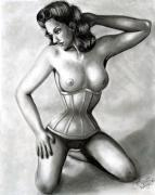 Lacing Posters - Classic Pin-Up Poster by Scarlett Royal