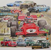 classic Racing 07 Print by John  Archbold