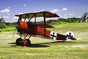Machinegun Prints - Classic Red Barron Fokker Dr.1 Triplane Canvas Photo poster print Print by Keith Webber Jr