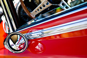 Color Image Framed Prints - Classic Red Car Artwork Framed Print by Shane Kelly
