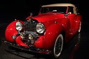 Lagonda Prints - Classic Red Lagonda . 7D1730 Print by Wingsdomain Art and Photography